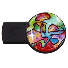 Graffity 1GB USB Flash Drive (Round)