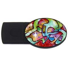 Graffity 4GB USB Flash Drive (Oval)