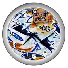 Graffity Wall Clock (Silver)