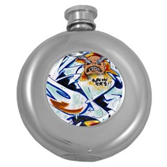 Graffity Hip Flask (Round)