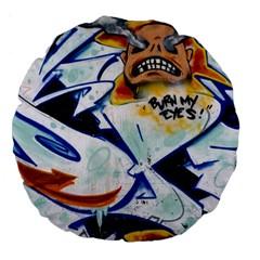 Graffity 18  Premium Round Cushion