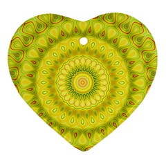 Mandala Heart Ornament