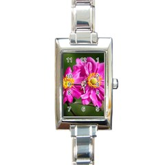 Flower Rectangular Italian Charm Watch