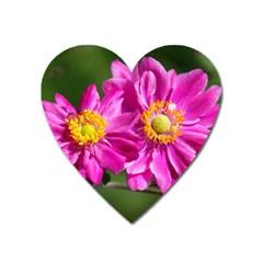Flower Magnet (heart)