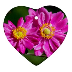 Flower Heart Ornament (Two Sides)