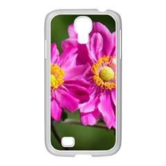 Flower Samsung GALAXY S4 I9500/ I9505 Case (White)
