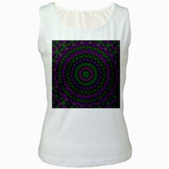 Mandala Womens  Tank Top (white)