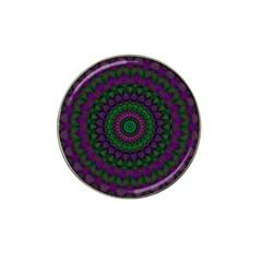 Mandala Golf Ball Marker (for Hat Clip)