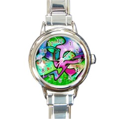 Graffity Round Italian Charm Watch