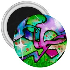 Graffity 3  Button Magnet