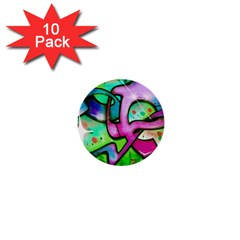 Graffity 1  Mini Button (10 pack)
