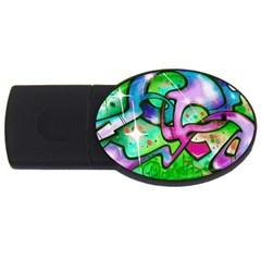 Graffity 1GB USB Flash Drive (Oval)