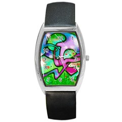 Graffity Tonneau Leather Watch