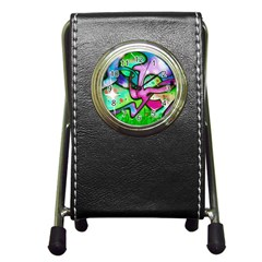 Graffity Stationery Holder Clock