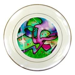 Graffity Porcelain Display Plate