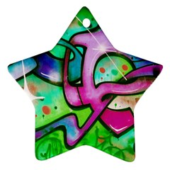 Graffity Star Ornament (Two Sides)