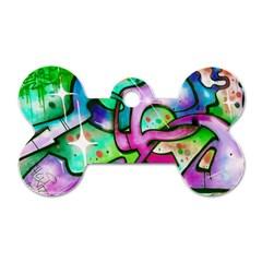 Graffity Dog Tag Bone (One Sided)