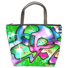 Graffity Bucket Handbag