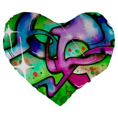 Graffity 19  Premium Heart Shape Cushion
