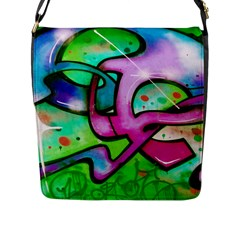 Graffity Flap Closure Messenger Bag (Large)