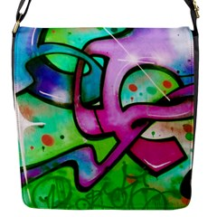 Graffity Flap Closure Messenger Bag (Small)