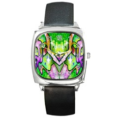 Graffity Square Leather Watch