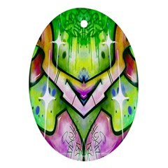Graffity Oval Ornament (two Sides)