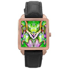 Graffity Rose Gold Leather Watch