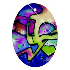 Graffity Oval Ornament