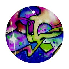 Graffity Round Ornament (two Sides)