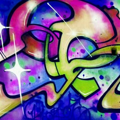 Graffity Canvas 12  x 12  (Unframed)