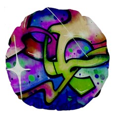 Graffity 18  Premium Round Cushion