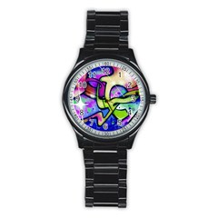 Graffity Sport Metal Watch (Black)
