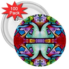 Graffity 3  Button (100 Pack)