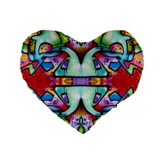 Graffity 16  Premium Heart Shape Cushion
