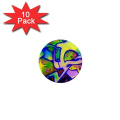 Graffity 1  Mini Button Magnet (10 pack)