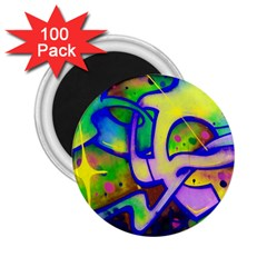 Graffity 2 25  Button Magnet (100 Pack)