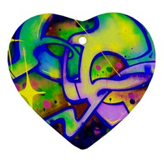 Graffity Heart Ornament (Two Sides)