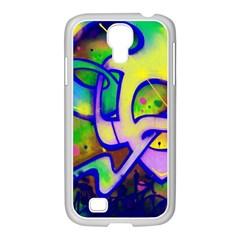 Graffity Samsung GALAXY S4 I9500/ I9505 Case (White)