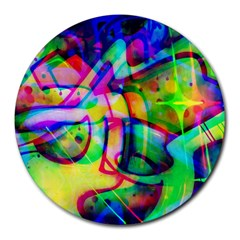 Graffity 8  Mouse Pad (Round)