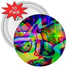 Graffity 3  Button (10 pack)