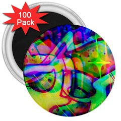 Graffity 3  Button Magnet (100 Pack)
