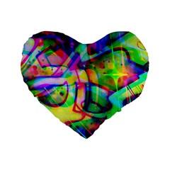 Graffity 16  Premium Heart Shape Cushion