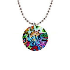 Graffity Button Necklace