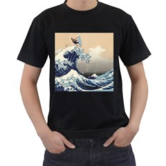 Surferthebigwave Mens' Two Sided T Shirt (black)
