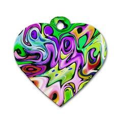 Graffity Dog Tag Heart (Two Sided)