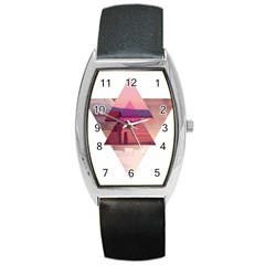 Triangles Tonneau Leather Watch