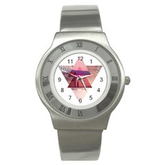 Triangles Stainless Steel Watch (slim)