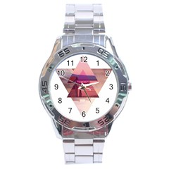 Triangles Stainless Steel Watch