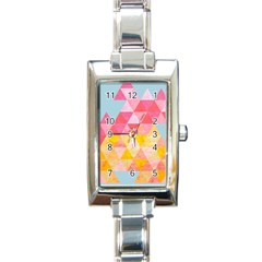 Pastel Triangles Rectangular Italian Charm Watch